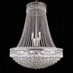 Lustre de Cristal Prata 18 Lâmpadas FT Elizabeth