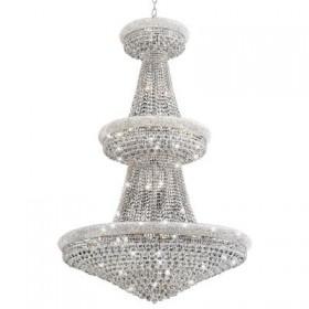 Lustre Imperial Spetacollo Metal Cromado Cristal 28 Lâmpadas - Pier
