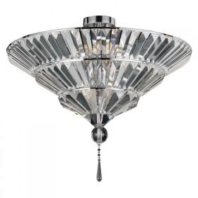 Plafon Soul Cristal Transparente Metal Cromado 8 Lâmpadas - Pier