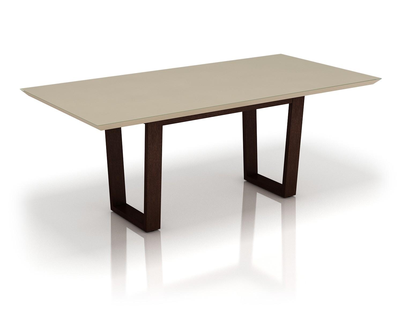 Mesa para Sala de Jantar MJ2122 - Ammo Mobili Fendi e Castanho