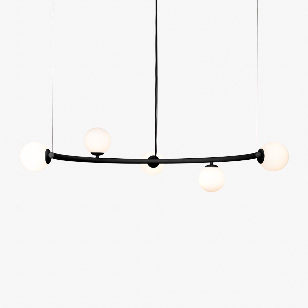 Lustre Arco com Vidro 5 Lâmpadas-Goldenart