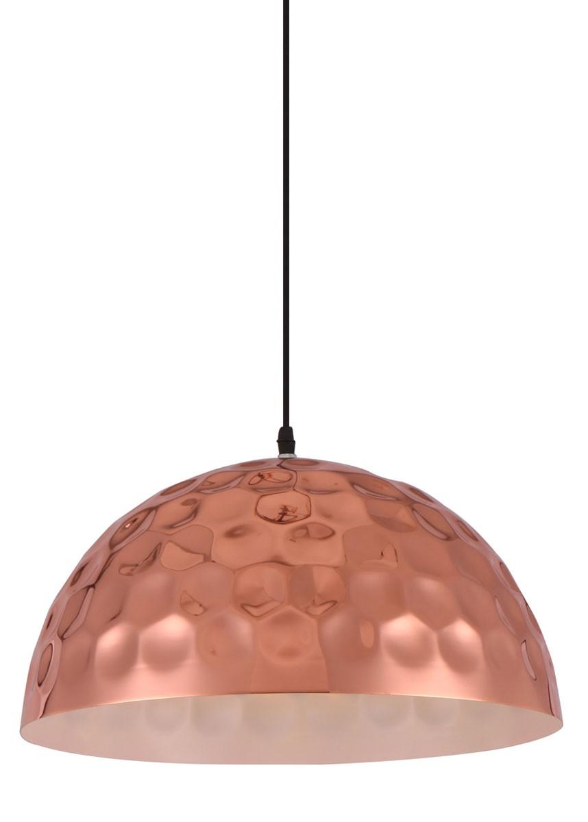 Pendente de Metal Cobre Rosé Gold 1 Lâmpada DB