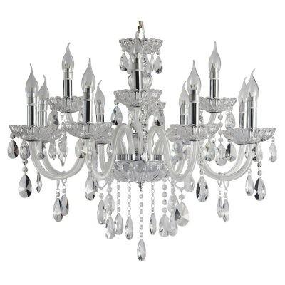 Lustre Eternal Cristal Transparente Metal Cromado 12 Lâmpadas -Pier