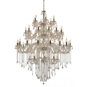 Lustre de Cristal Maria Thereza Transparente 42 Lâmpadas