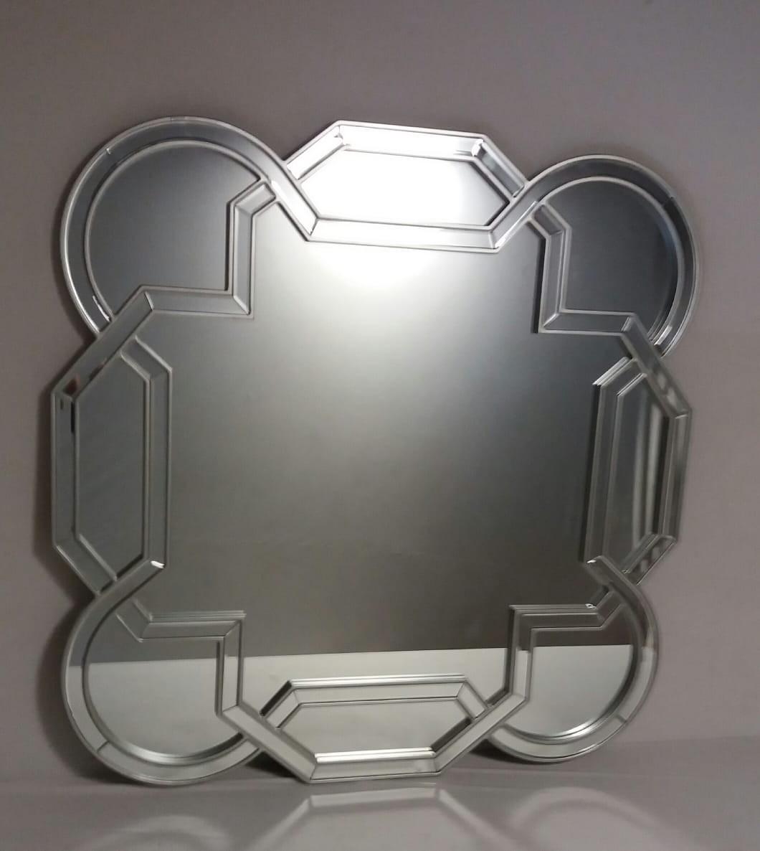 Espelho quadrado com as pontas arredondadas prata - Frontier