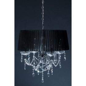 Lustre de cristal Egipcio com 4 lâmpadas cúpula preta Vg