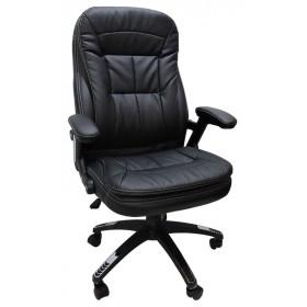 Cadeira Diretor Designchair Base Giratoria Relax Confort Preta