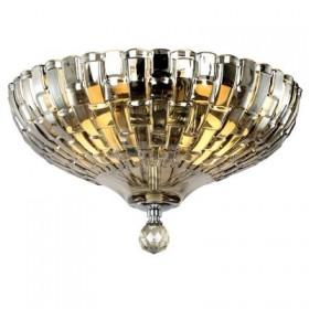 Plafon Symbol Cristal Cognac Metal Cromado 2 Lâmpadas - Pier