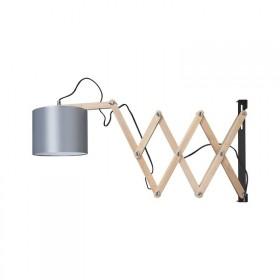 Pendente de Madeira e Tecido 1 lâmpada Woody - Luciin