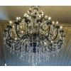 Lustre Candelabro Preto de Cristal Transparente 50 Lâmpadas - Frontier