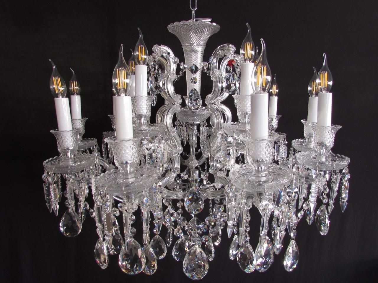 Lustre Candelabro de Cristal Estilo Baccarat 8 Lâmpadas - Frontier