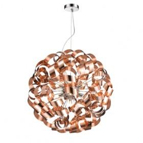 Pendente de Aço Bronze 12 Lâmpadas +Luz Iluminação