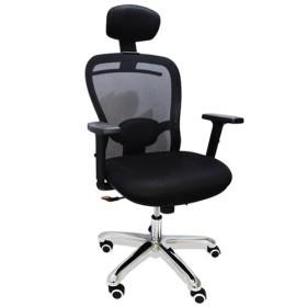 Cadeira Presidente Base Giratória Cromada Tela Mesh CEO Human - Desingchair