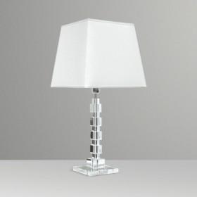 Abajur Cubos de Cristal 1 Lâmpada Goldenart