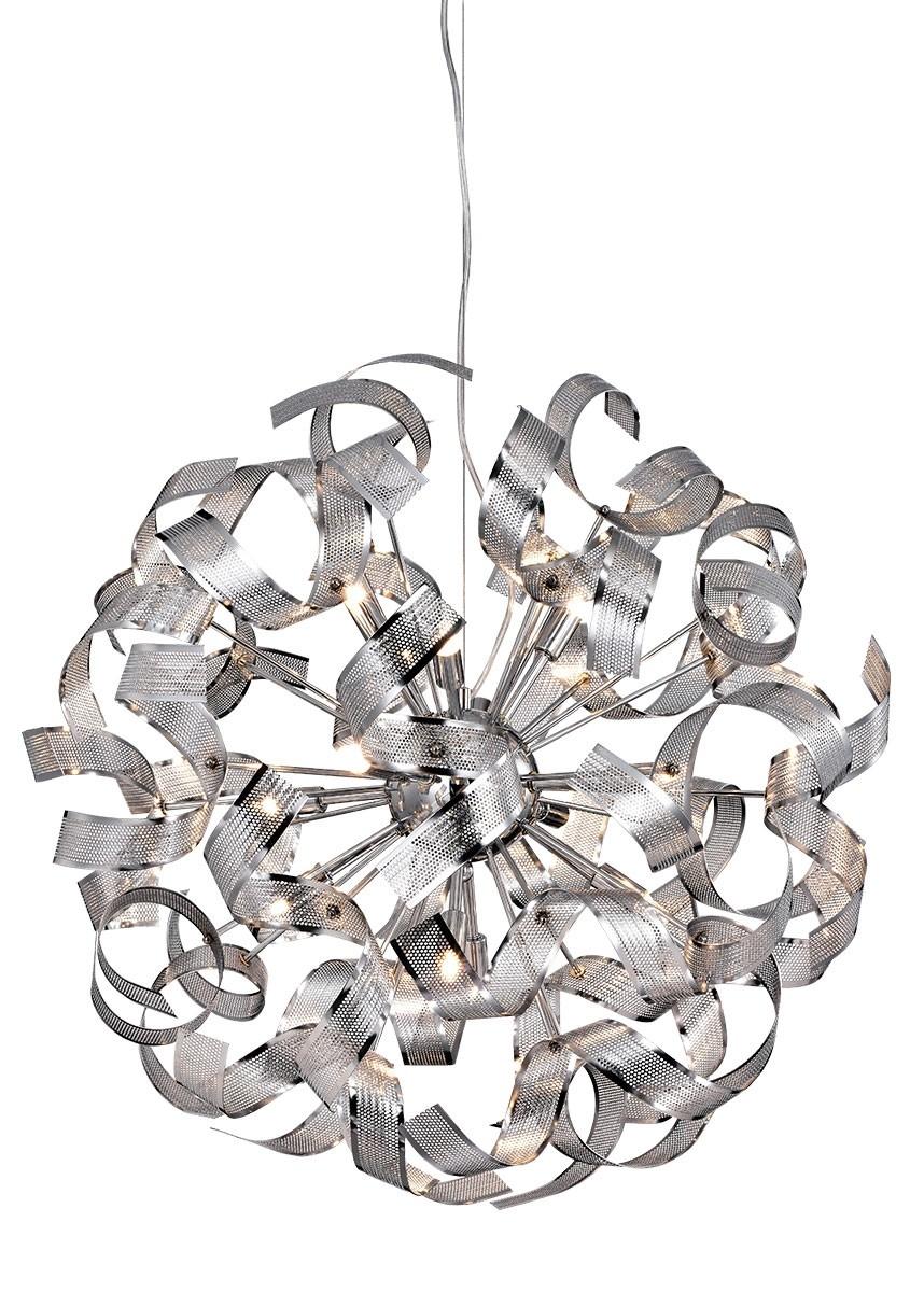 Pendente de Metal Cromado 12 Lâmpadas Sphera
