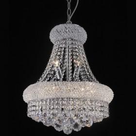 Lustre de Aço em Cromo com Cristais 8 lâmpadas - Itamonte