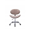 Cadeira Decorativa Bella Base Giratória Cromada Nude