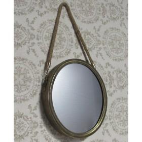 Espelho Redondo Decorativo de Metal - Frontier