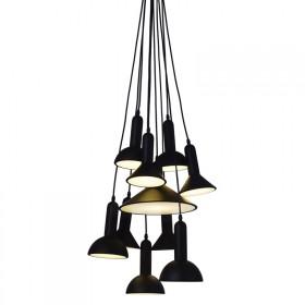 Pendente Lanterns em Alumínio na Cor Preta com 10 Braços - Pier