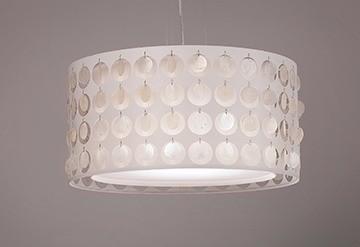 Pendente Madreperola Pequeno 3 Lâmpadas - Tom Luz Iluminação