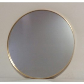 Espelho Redondo pequeno com borda Dourada - Frontier
