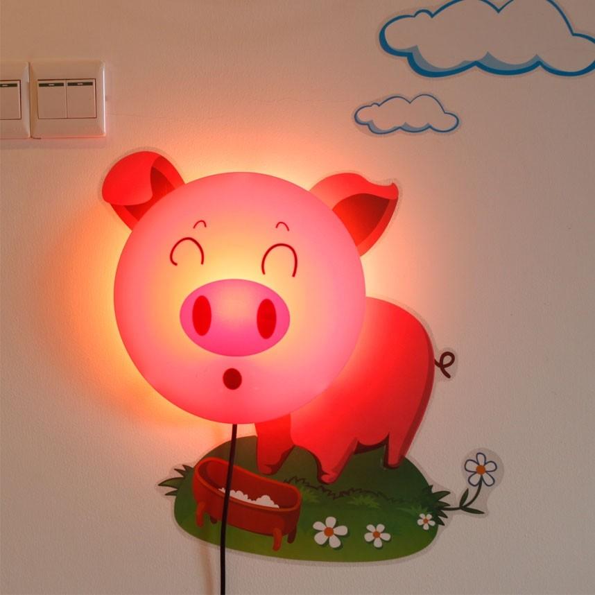Plafon Infantil Porquinho 1 Lâmpada