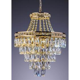 Lustre de Cristal Florença 8 Lâmpadas Dourado - Startec