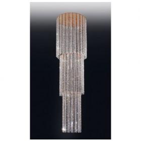 Lustre de Cristal Transparente Cascata com Estrutura Dourada 12 Lâmpadas - Old Artisan
