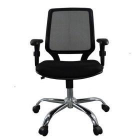 Cadeira Diretor Base Giratória Cromada Corporate Tela - Desingchair