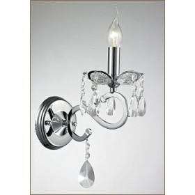 Arandela Chardonne cromado com Cristais Transparente 1 lâmpada - Tupiara