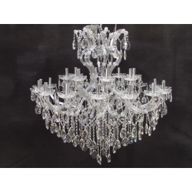 Lustre Candelabro de Cristal Transparente Maria Thereza 24 Lâmpadas - Frontier