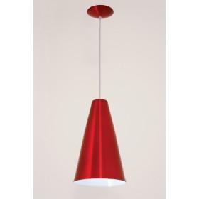 Pendente Madri 1 Lampada Vermelho Verniz - Auremar