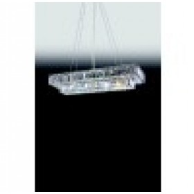 Lustre Pendente Moderno de Cristal Com Estrutura Retangular 11 Lâmpadas - Old Artisan