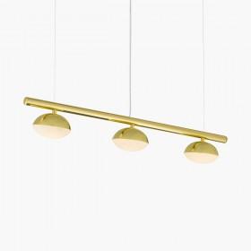 Pendente Avelã Com Tres Focos de Luz 3 Lâmpada De Led 3000 K-GoldenArt