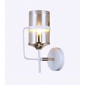 Arandela Metal e Vidro Branco 1 Lâmpada - Sindora