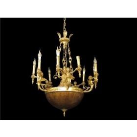 Lustre de Bronze Candelabro com Cristal 15 Lâmpadas - Frontier
