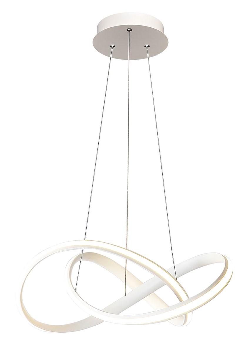 Pendente de Escritório em Alumínio Branco LED 01 Lâmpada AP II