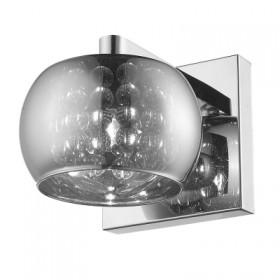 Arandela Soho com Cupula Cromado e Cristal Transparente 1 Lampada - Bella