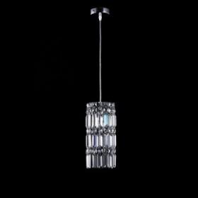 Pendente Moderno Com Cúpula Redonda de Cristal Transparente 1 Lâmpada - JLR