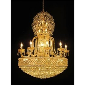 Lustre Imperial de Cristal Dourado 50 Lâmpadas - Frontier