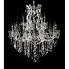 Lustre Candelabro de Cristal Transparente Estilo Maria Thereza 15 Lampadas - Frontier