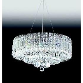 Pendente Moderno de Cristal Transparente e Estrutura Redonda 9 Lâmpadas - Old Artisan