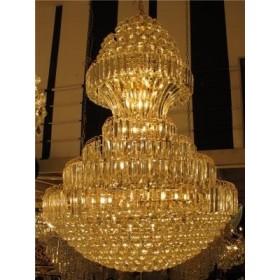 Lustre Imperial de Cristal Dourado 34 Lâmpadas - Frontier