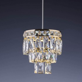 Lustre de Cristal Florença Mini 7 Lâmpadas Dourado - Startec