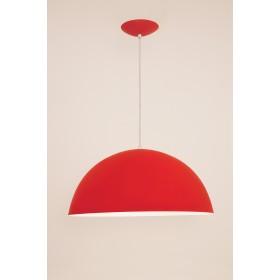 Pendente Bilbao Med 1 Lampada Vermelho - Auremar