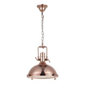Pendente Kitchen Metal Bronze e Vidrio Fosco 1 Lâmpada +Luz Iluminação