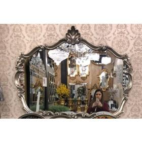 Espelho Quadrado com detalhes Prata - frontier