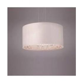 Pendente Glam 2 com Cúpula Interna Espelhada Fechamento em Acrílico 3 lâmpadas Tom Luz