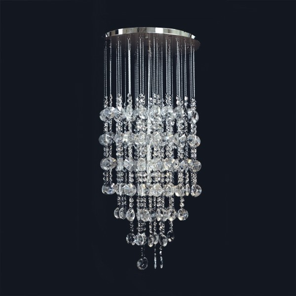 Pendente Mandalla Cristal 10 Lâmpada -GoldenArt