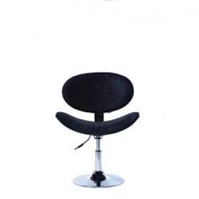 Cadeira Decorativa Bela Giratória com Base Disco Cromada Preta